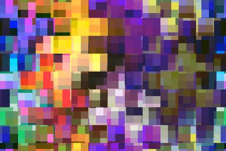 Complex snazzy mosaic abstract of rows of squares that each contain rectangles of various colors for themes of variety and multiplicity