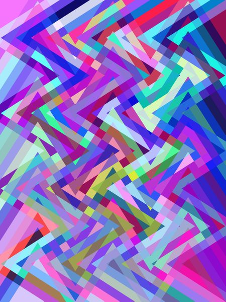 Kaleidoscopic multicolored abstract of zigzags crisscrossing for psychedelic effect