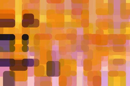 Abstract dream of a pinball wizard, with rounded rectangles overlapping for 3-D effect