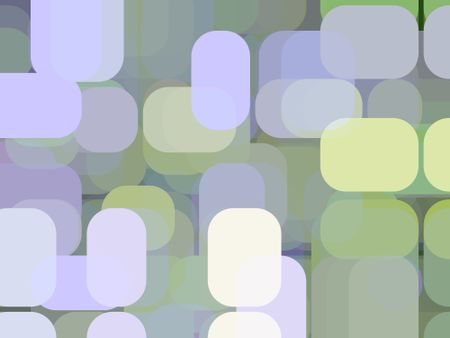 Abstract of city lights, with rounded pastel rectangles overlapping for 3-D effect
