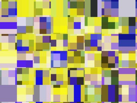 Festive kaleidoscopic multicolored mosaic of squares most of which contain multiple squares of various colors