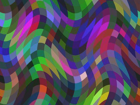 Wavy varicolored abstract mosaic