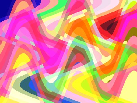 Festive wavy abstract with rollercoaster swoops of carnival color