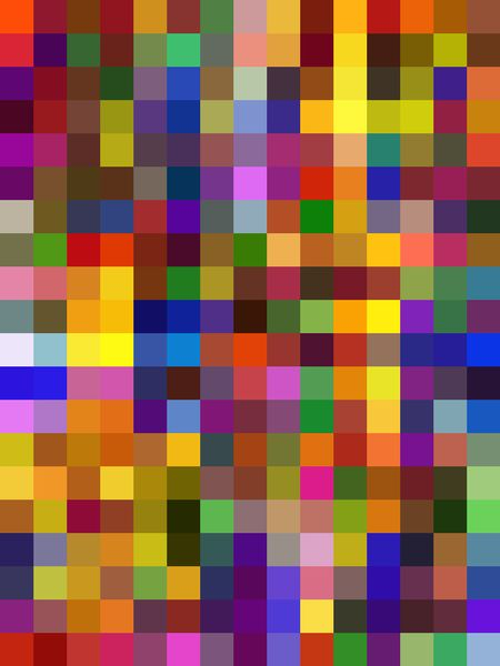 Two-dimensional multicolored mosaic abstract for decoration and background