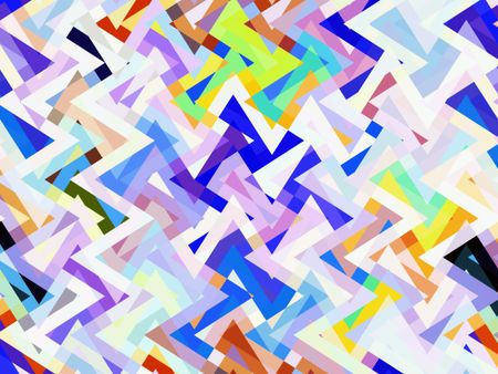 Bright kaleidoscopic abstract illustration of crisscrossing zigzags