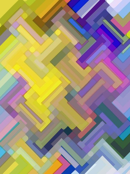 Varicolored zigzag mosaic abstract for decoration and background