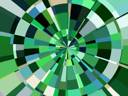 Multicolored radial abstract illustration rather like a circular target for darts or arrows