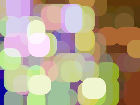Multicolored abstract of city lights in the evening