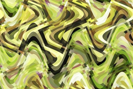 Varicolored abstract of sine waves crisscrossing vertically and horizontally for kaleidoscopic effect of sinuous entanglement
