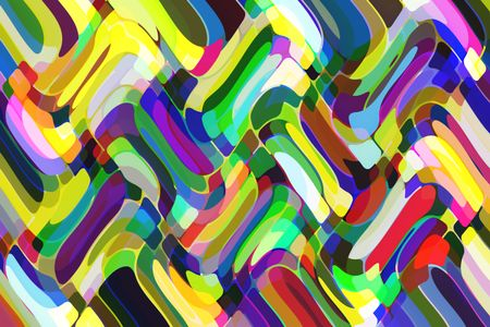 Kaleidoscopic abstract celebration of tropical color