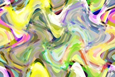 Festive abstract of kaleidoscopically multicolored crisscrossing sine waves with checkered areas of intersection
