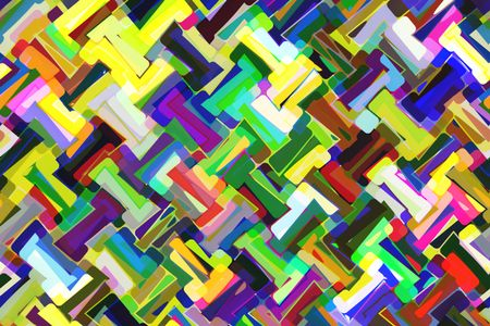 Kaleidoscopic multicolored abstract for celebration of color and creativity