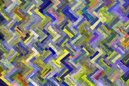 Zigzag multicolored abstract mosaic with painterly texture