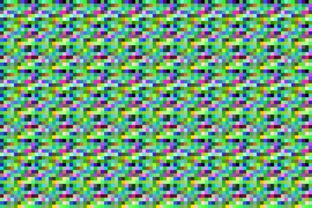 Geometric mosaic abstract composed of many small, solid squares in a symmetrical pattern