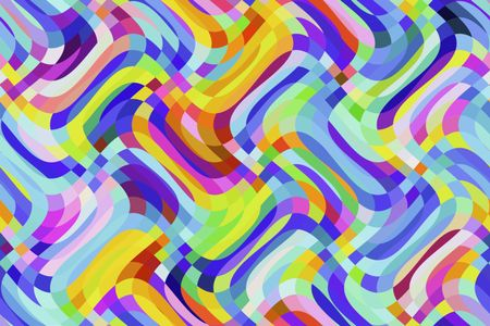 Bright wavy abstract with carnival colors