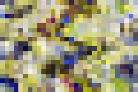 Variety within uniformity: Two-dimensional multicolored mosaic grid