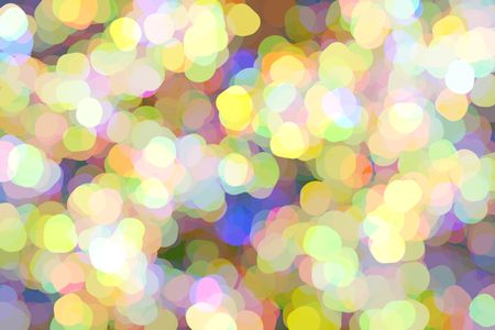 Impressionistic multicolored abstract of rounded polygons in profusion, softly bright, like so many wildflowers in summer, with much overlapping for 3-D effect