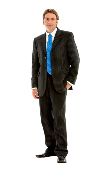 Fullbody businessman isolated over a white background