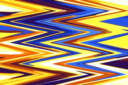 Multicolored zigzag abstract