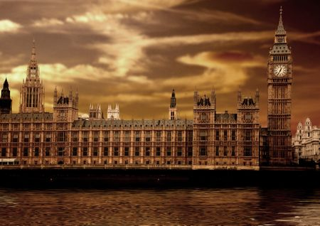 houses of parliament - big ben in london at sunset