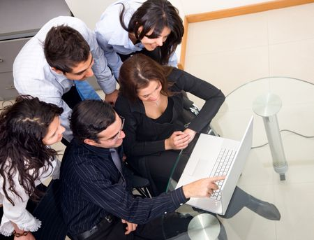 Business team on the computer in an office