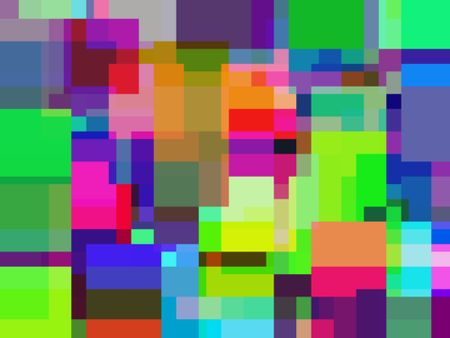 Bold multicolored abstract celebration of urban non-formalism with rectilinear multiplicity