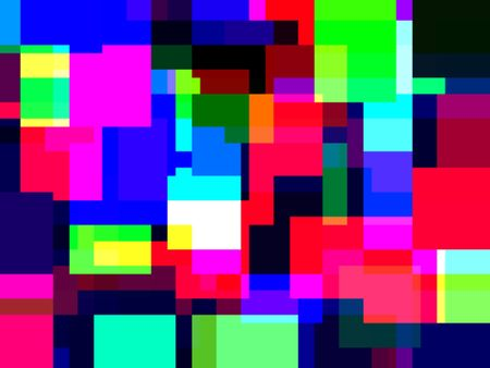 Multicolored blocky abstract for themes of diversity and interconnectedness