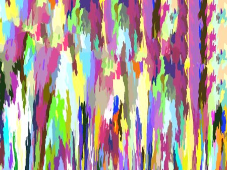 Multicolored painterly abstract of runny splatters