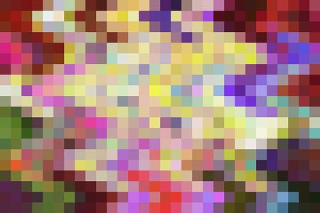 Multicolored geometric mosaic of squares on a grid