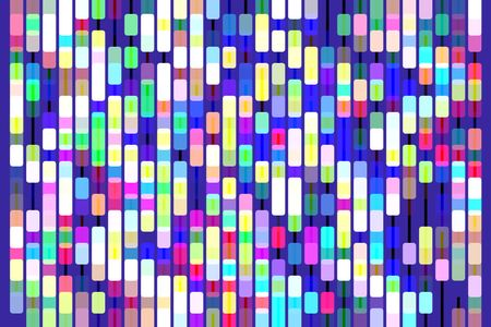 Snazzy multicolored geometric abstract