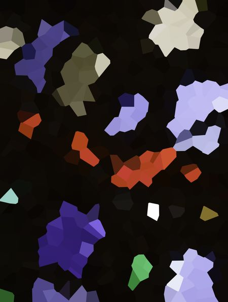 Crystallized abstract of pieces of stained glass on black