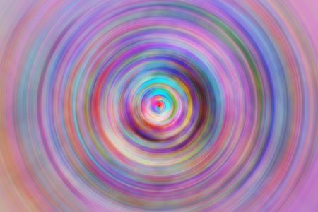 Multicolored abstract vortex gyrating with radial blur, like a moment of a cinematic transition, as in a flashback or movement to another dimension