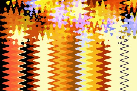 Celebratory razzle-dazzle abstract fireworks finale -- both geometric and painterly -- with sine waves for corkscrew rocket trails and frenetic splotches for bursts and sparks