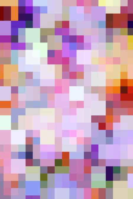 Varicolored geometric mosaic of large and small squares for decoration and background