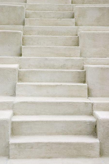 Concrete steps in outdoor amphitheater