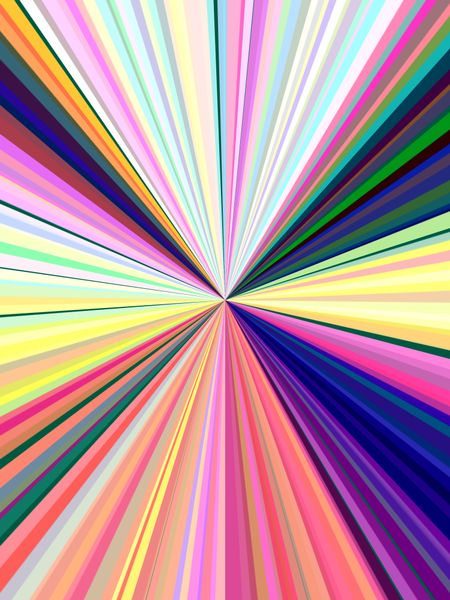 Multicolored abstract of symmetry in universal emission