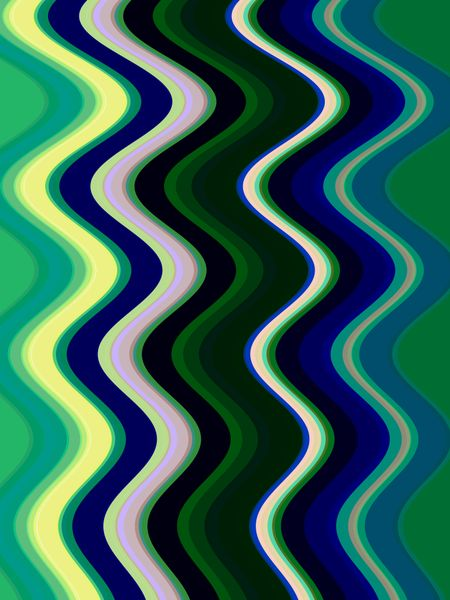 Abstract geometric wave pattern for decoration and background, with themes of alternation, togetherness, and continuity