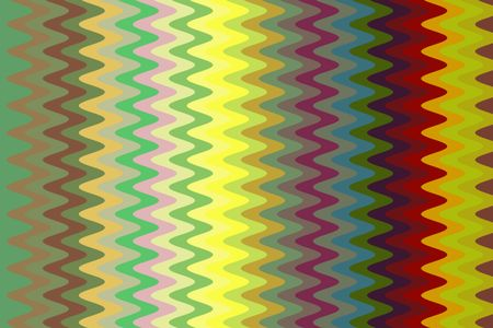 Multicolored abstract of squiggly sine waves in a decorative geometric pattern
