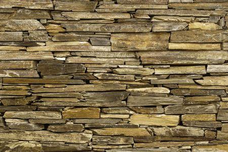 Detail of stone retaining wall in Arizona garden