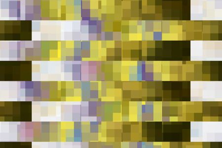 Mosaic abstract of rows of squares that each contain squares and rectangles of various colors for themes of containment and diversity