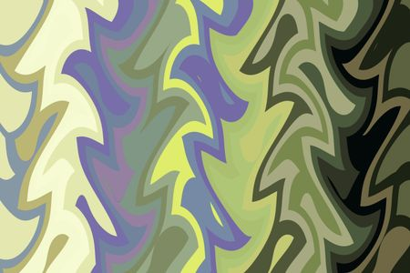 Multicolored whimsical abstract pattern of interlocking for background themes of nature, variety, playfulness