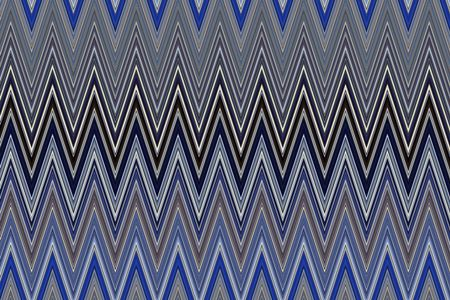 Varicolored geometric zigzag pattern of recurrence for illustration of multiple motifs such as repetition, symmetry, synergy