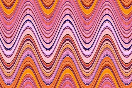 Varicolored abstract of S-curves side by side for decoration and background with themes of repetition or synergy