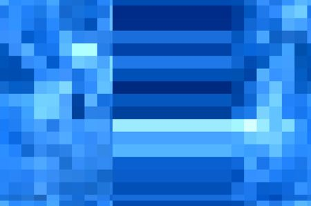 Abstract of solid stripes sandwiched between similar mosaics with predominance of blue, for backgrounds and warps