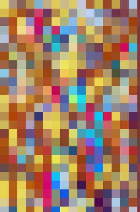 Festive parti-colored mosaic abstract of squares in a variety of solid colors for carnival or summer themes