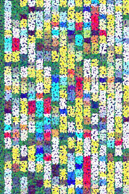 Multicolored pointillist mosaic with a festive pattern of variety