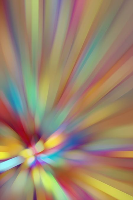 Multicolored naturalistic abstract with the effect of a radially blurred flower, for decoration and background with themes of variety and origin