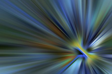 Abstract sunburst with rainbow colors for themes of origin, energy, dissemination