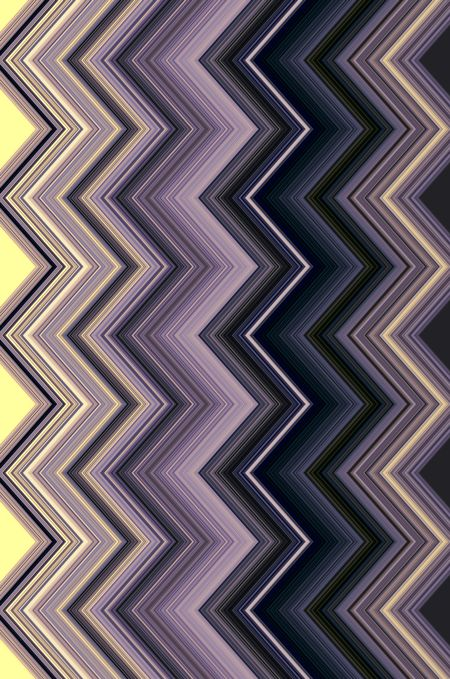 Geometric varicolored abstract of zigzags in a repetitive pattern for decoration and backgrounds with mathematical or architectural motifs