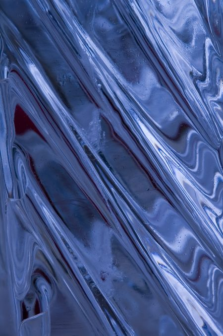 Pattern in carved ice